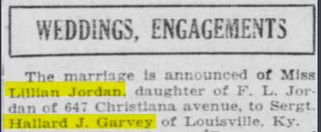Garvey's first marriage