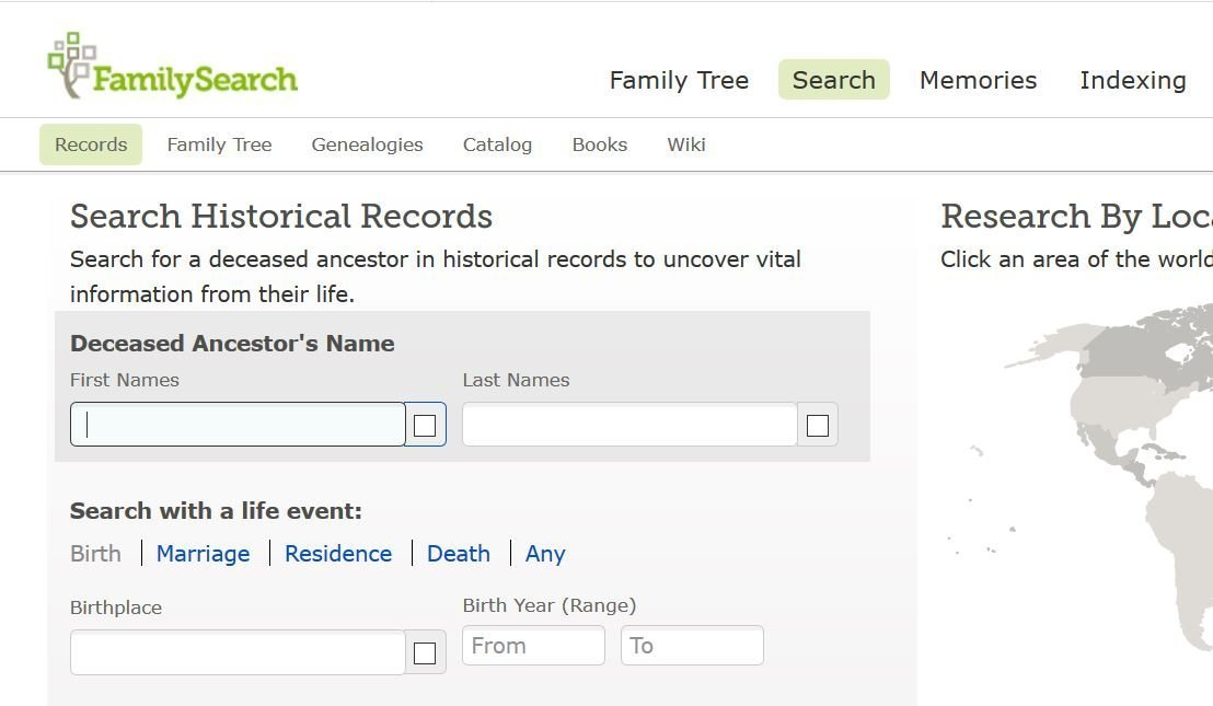 FamilySearch Records